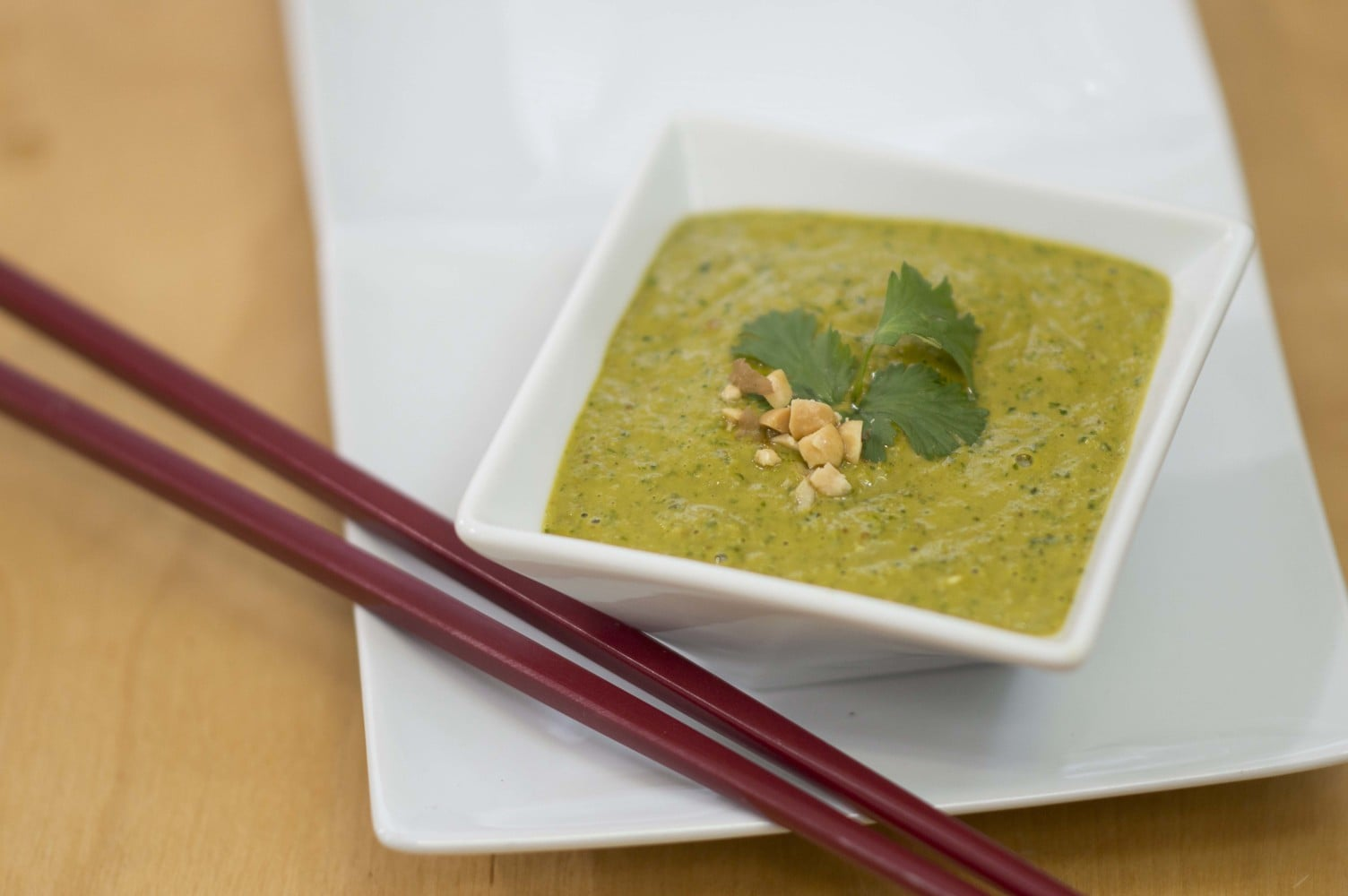 The Thai Peanut Sauce prepared and ready to eat