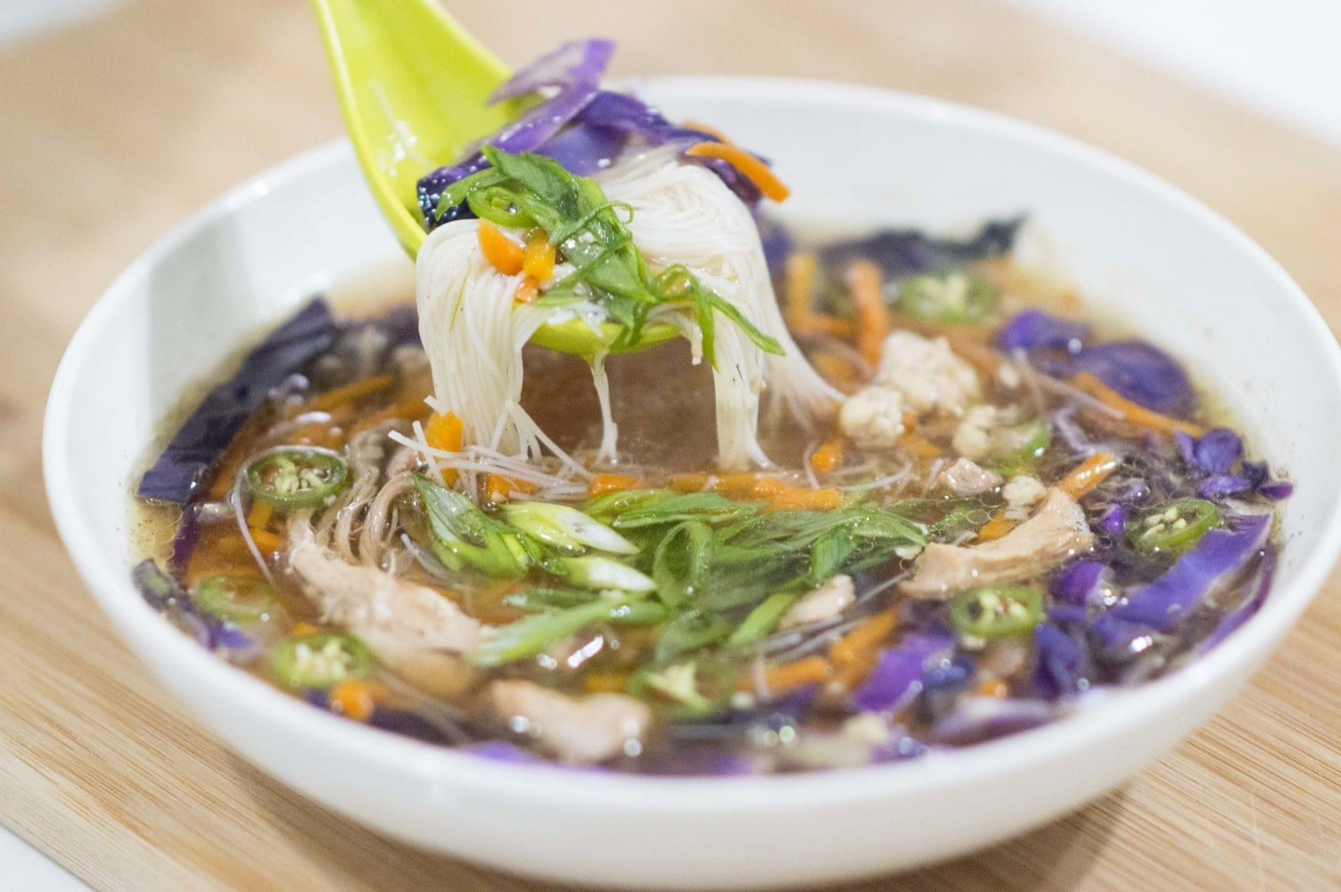 Faux Pa Pho dished and ready to serve