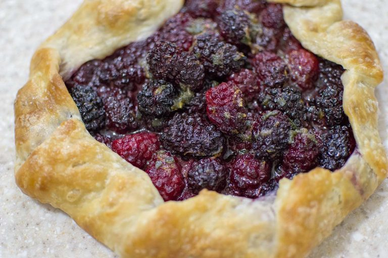 Blackberry Sage Galette backed and ready to serve