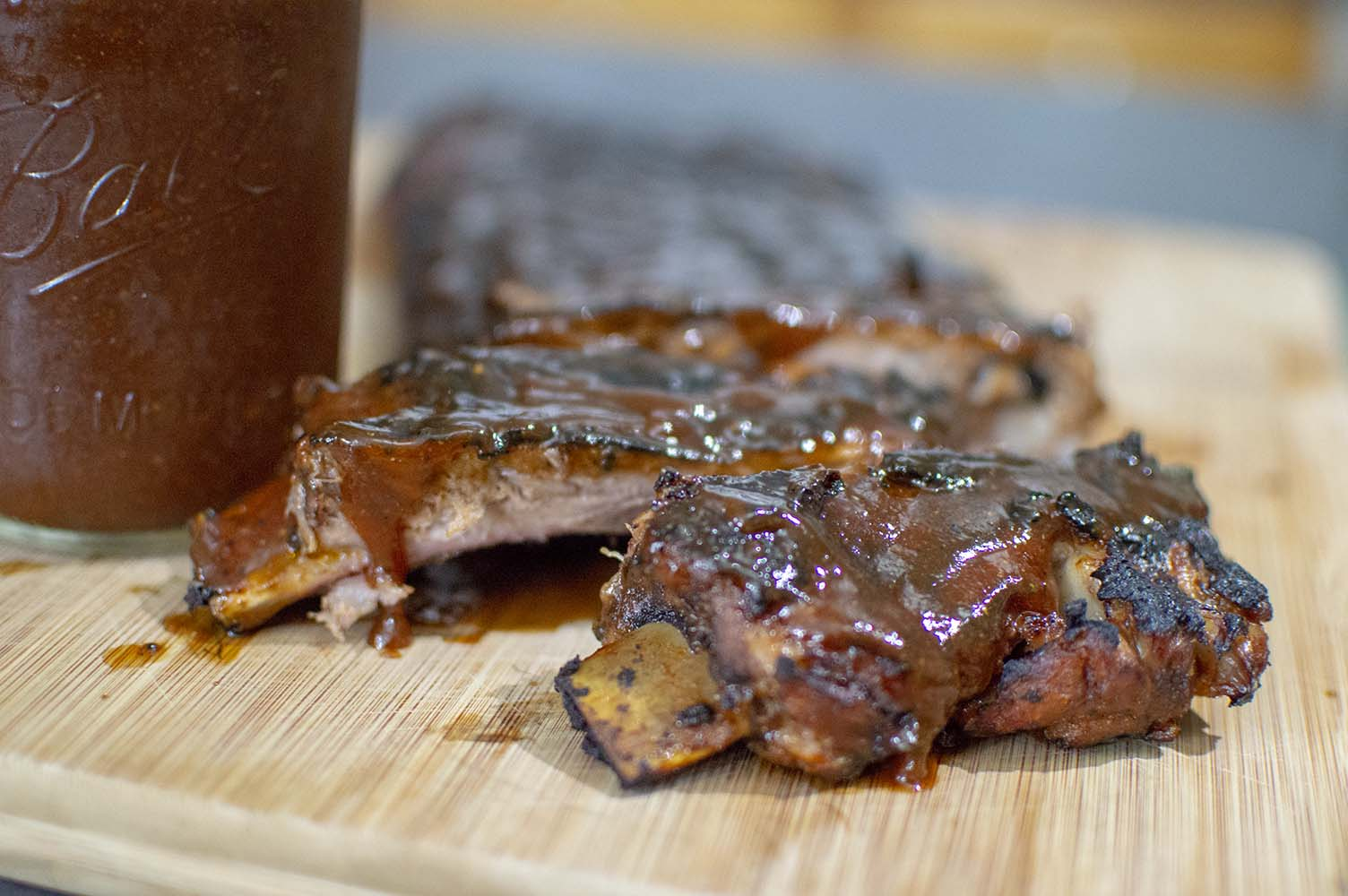 Coca-Cola BBQ Sauce over fresh smoked ribs